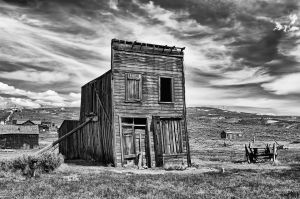 Old Building B&W; Bodie, California